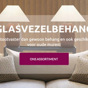 Glasvezelbehang online bestellen